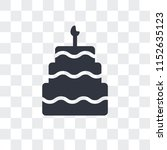 birthday cake with candles... | Shutterstock .eps vector #1152635123
