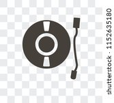 turntable vector icon isolated... | Shutterstock .eps vector #1152635180