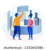 touching vr interface  virtual... | Shutterstock .eps vector #1152642086