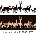 wild deer seamless vector... | Shutterstock .eps vector #1152651773