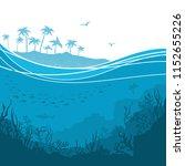 underwater sea background with...   Shutterstock . vector #1152655226