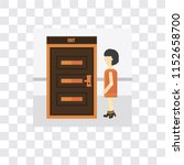 exit vector icon isolated on... | Shutterstock .eps vector #1152658700