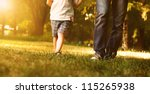 close up image of father and...   Shutterstock . vector #115265938