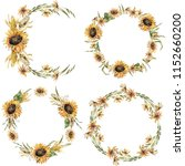 Floral Wreath In A Rustic Style....