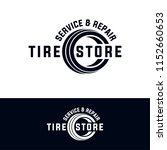 tyre shop logo design   tyre... | Shutterstock .eps vector #1152660653