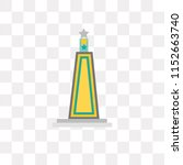 obelisk vector icon isolated on ... | Shutterstock .eps vector #1152663740