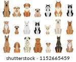 Stock vector dog set vector 1152665459