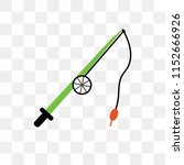 fishing rod vector icon... | Shutterstock .eps vector #1152666926