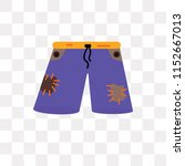 shorts vector icon isolated on... | Shutterstock .eps vector #1152667013