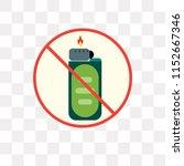 lighter vector icon isolated on ... | Shutterstock .eps vector #1152667346