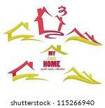 my little home  vector...   Shutterstock .eps vector #115266940
