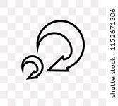 turn right arrow vector icon... | Shutterstock .eps vector #1152671306