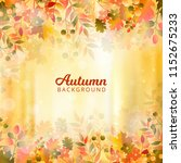 bokeh autumn background with... | Shutterstock .eps vector #1152675233