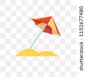 sun umbrella vector icon... | Shutterstock .eps vector #1152677480