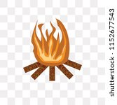 bonfire vector icon isolated on ... | Shutterstock .eps vector #1152677543