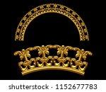 golden ornamental segment  ...   Shutterstock . vector #1152677783