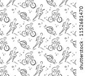 triathlon hand drawn outline... | Shutterstock .eps vector #1152681470