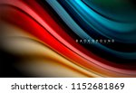fluid colors abstract... | Shutterstock .eps vector #1152681869