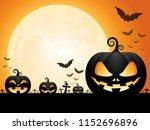 halloween pumpkins on the... | Shutterstock .eps vector #1152696896