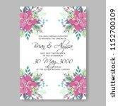 peony anemone wedding invitation | Shutterstock .eps vector #1152700109
