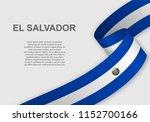 waving flag of el salvador.... | Shutterstock .eps vector #1152700166