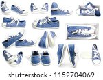 stylish shoes for the sport in... | Shutterstock . vector #1152704069