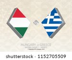 hungary vs greece  league c ...   Shutterstock .eps vector #1152705509