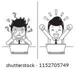 vector cartoon businessman... | Shutterstock .eps vector #1152705749