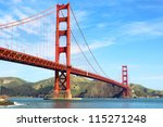 Stock photo golden gate bridge in san francisco california usa 115271248