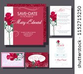 wedding invitation cards with...   Shutterstock .eps vector #1152715250