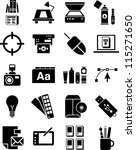 Graphic Design icons - stock vector