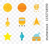 set of 9 simple transparency... | Shutterstock .eps vector #1152718550