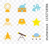 set of 9 simple transparency... | Shutterstock .eps vector #1152718586