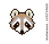 vector pixel raccoon isolated... | Shutterstock .eps vector #1152719633