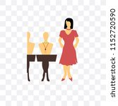 woman selling jewelry vector... | Shutterstock .eps vector #1152720590