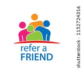 refer a friend with people icon.... | Shutterstock .eps vector #1152724316