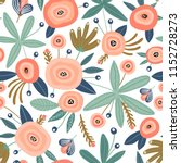 seamless pattern with flowers... | Shutterstock .eps vector #1152728273