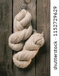 elevated view of two woolen... | Shutterstock . vector #1152729629