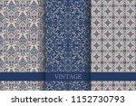 set of vintage seamless damask... | Shutterstock .eps vector #1152730793
