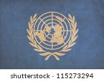 united nations flag drawing ... | Shutterstock . vector #115273294