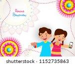 vector abstract for raksha... | Shutterstock .eps vector #1152735863
