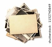 stack old photos isolated on... | Shutterstock . vector #1152740849