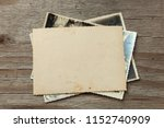 stack old photos on table. mock ... | Shutterstock . vector #1152740909
