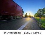 truck transportation on the...   Shutterstock . vector #1152743963