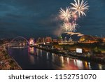 fireworks in newcastle upon...   Shutterstock . vector #1152751070