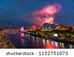 fireworks in newcastle upon...   Shutterstock . vector #1152751073