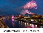 fireworks in newcastle upon...   Shutterstock . vector #1152751076