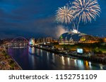 fireworks in newcastle upon...   Shutterstock . vector #1152751109