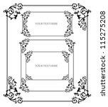 set of four vintage frames in... | Shutterstock .eps vector #115275208