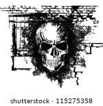 vector scary halloween grunge...